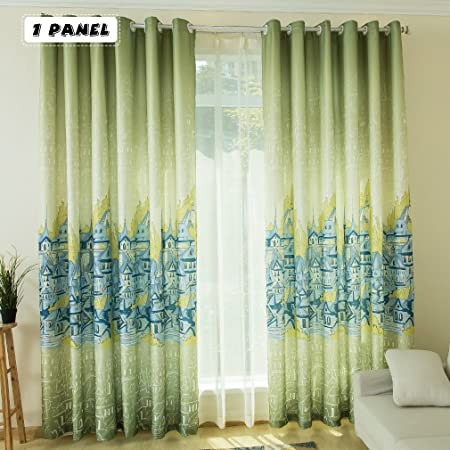 KINLO Eyelet Blackout Curtains 1 Panel 145 X 245 Cm Thermal Insulated  Eyelet Anti