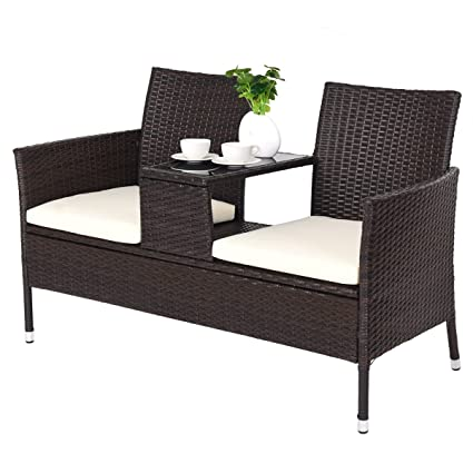 Merveilleux TANGKULA Outdoor Furniture Set Paito Conversation Set With Remoable  Cushions U0026 Table Wicker Modern Sofas For
