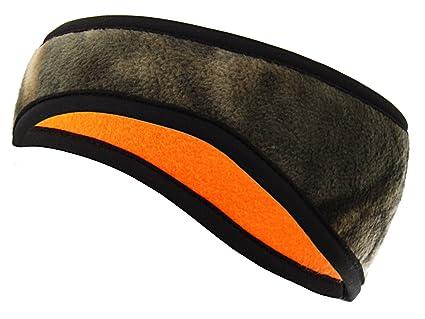 b5a0af80c90fa Equipment De Sport USA Mossy Oak Camouflage Reversible Orange Fleece  Headband