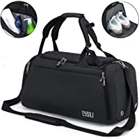 Sports Duffle Bag with Shoes Compartment and Wet Pocket, 42L Waterproof Gym Bag for Men and Women, Durable Travel Duffel…