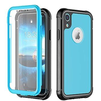 NEXGADGET Funda para iPhone XR 3in1 Combinación a Prueba de Choques con Protector de Pantalla Incorporado Estuche de Parachoques para el Teléfono ...