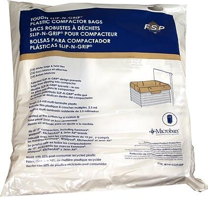 Genuine Trash Compactor Bags W10165295RP Whirlpool Kenmore 15