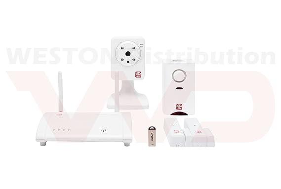 KIT de Alarma Inteligente para Casa OPLINK. Sin cuotas, sin costes de instalación y 100% inalámbrica. Con envío de alertas y vídeo en directo a su ...