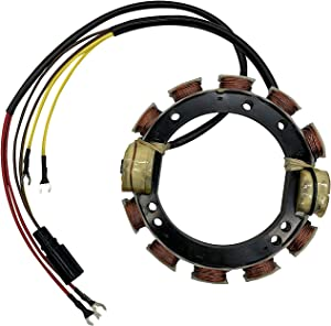 JETUNIT Stator 9amp 4 Cyl For Johnson Evinrude 120hp-140hp 1988-2001 V4 Loopers 763769 583410 173-3410