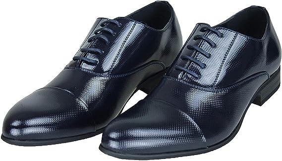 Bleu Chaussures Élégant Hommes Foncé Class Poli Vernis Evoga hxBordstQC