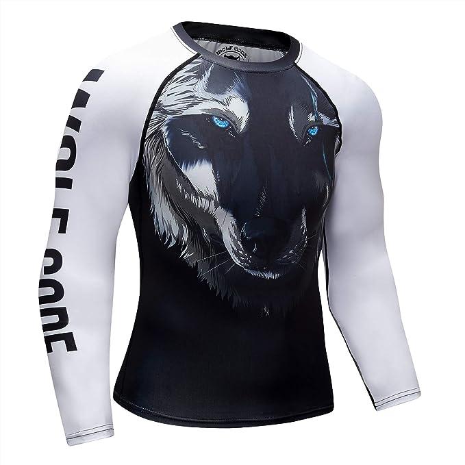 Long Sleeve MMA Rash Guard GYM Wear Fight Wear