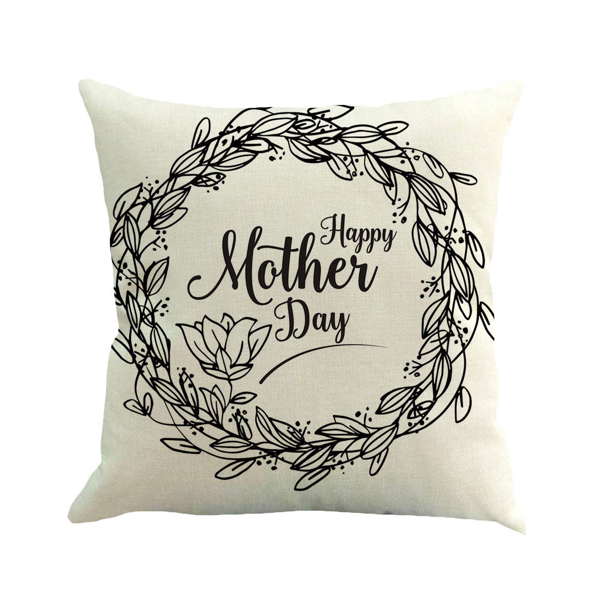 Weiliru Pillow Covers Throw Pillow Case Daily Decorations Sofa Throw Pillow Case Cushion Covers Zippered Pillowcase,Decor for Mother's Day