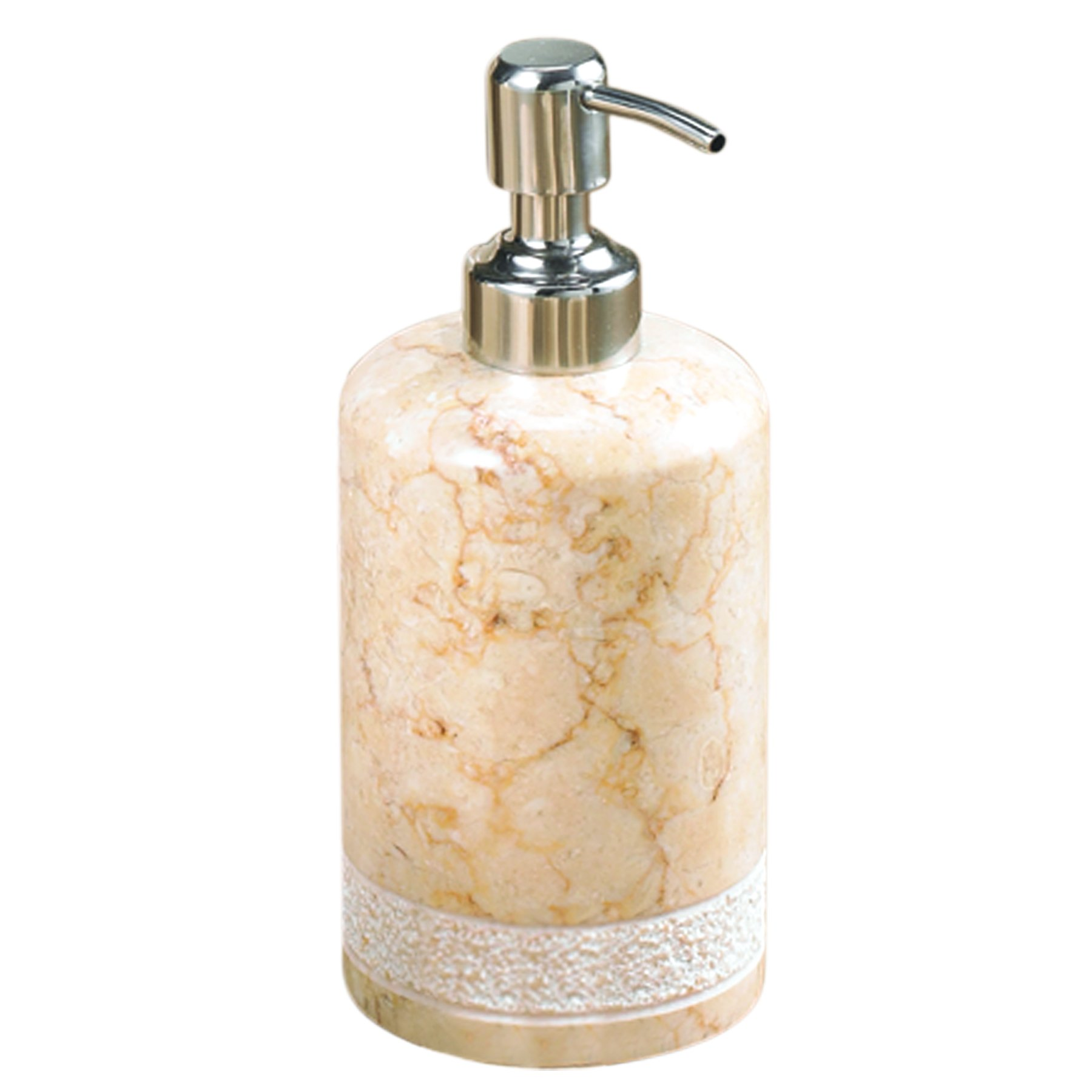 Creative Home Spa Hand Carved Marble Soap Dispenser