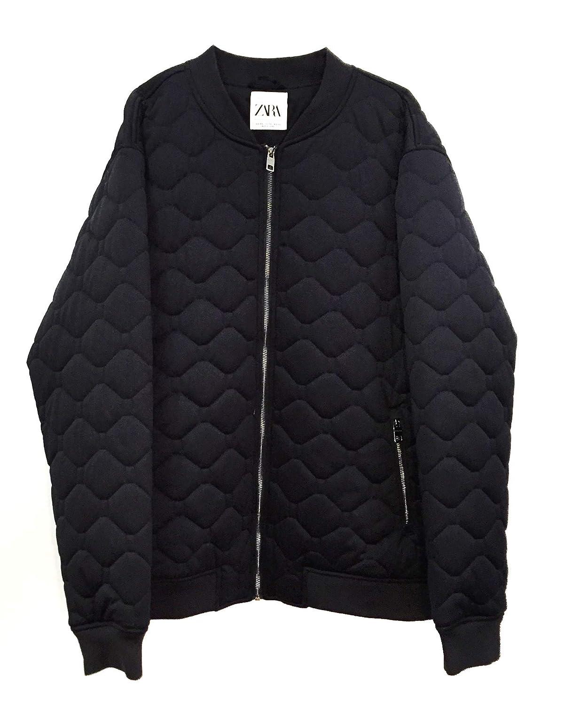 dc0474db5 Zara Men Quilted Bomber Jacket 1792/400 at Amazon Men's Clothing store: