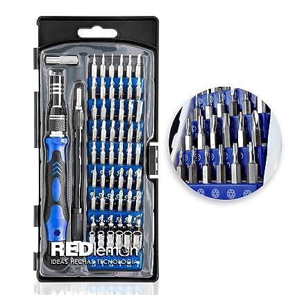 578910cc6ed REDLEMON Kit de Desarmador de Precisión Portátil 54 en 1, para Reparación  de Smartphones,