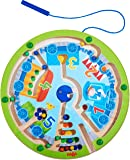 HABA Neato Number Train Magnetic Maze Game - STEM Approved Fosters Motor Skills, Numbers 1-5 and Assignment of Color Ages 2+