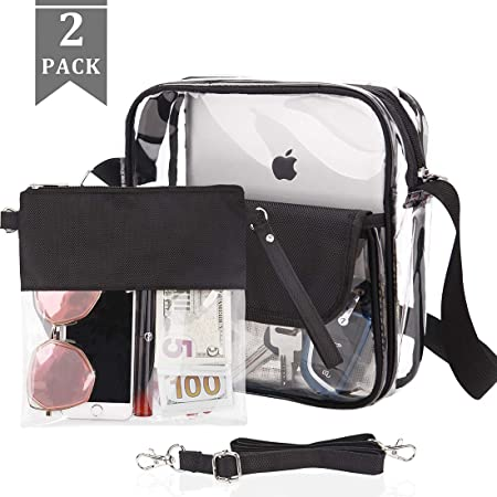 Amazon.com: Clear Tote Bag Purse, NFL & PGA Approved Clear ...