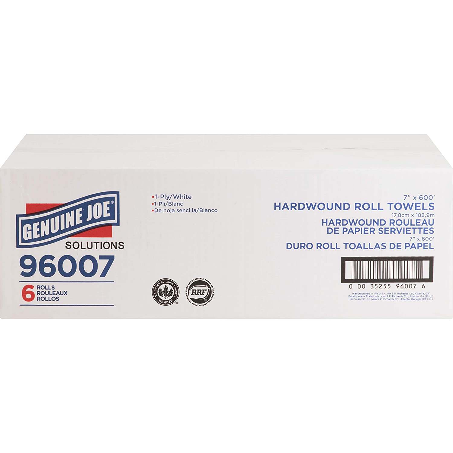 Genuine Joe 96007 Solutions 1-ply Hardwound Towels (Pack of 6): Amazon.com: Industrial & Scientific