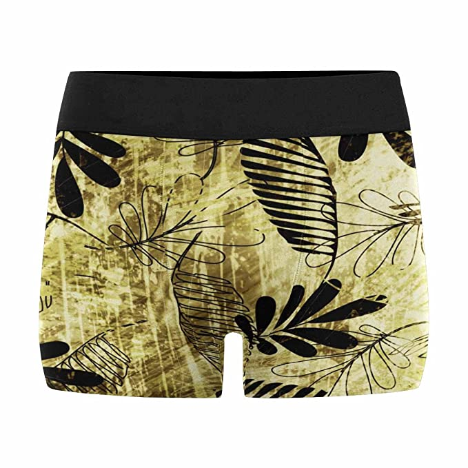 XS-3XL INTERESTPRINT Mens Boxer Briefs Underwear Colorful Flowers The Leaves