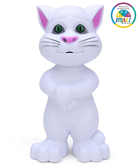 f6431cab04 Buy Smiles Creation Touching and Mimicry Talking Tom Cat with Wonderful  Voice