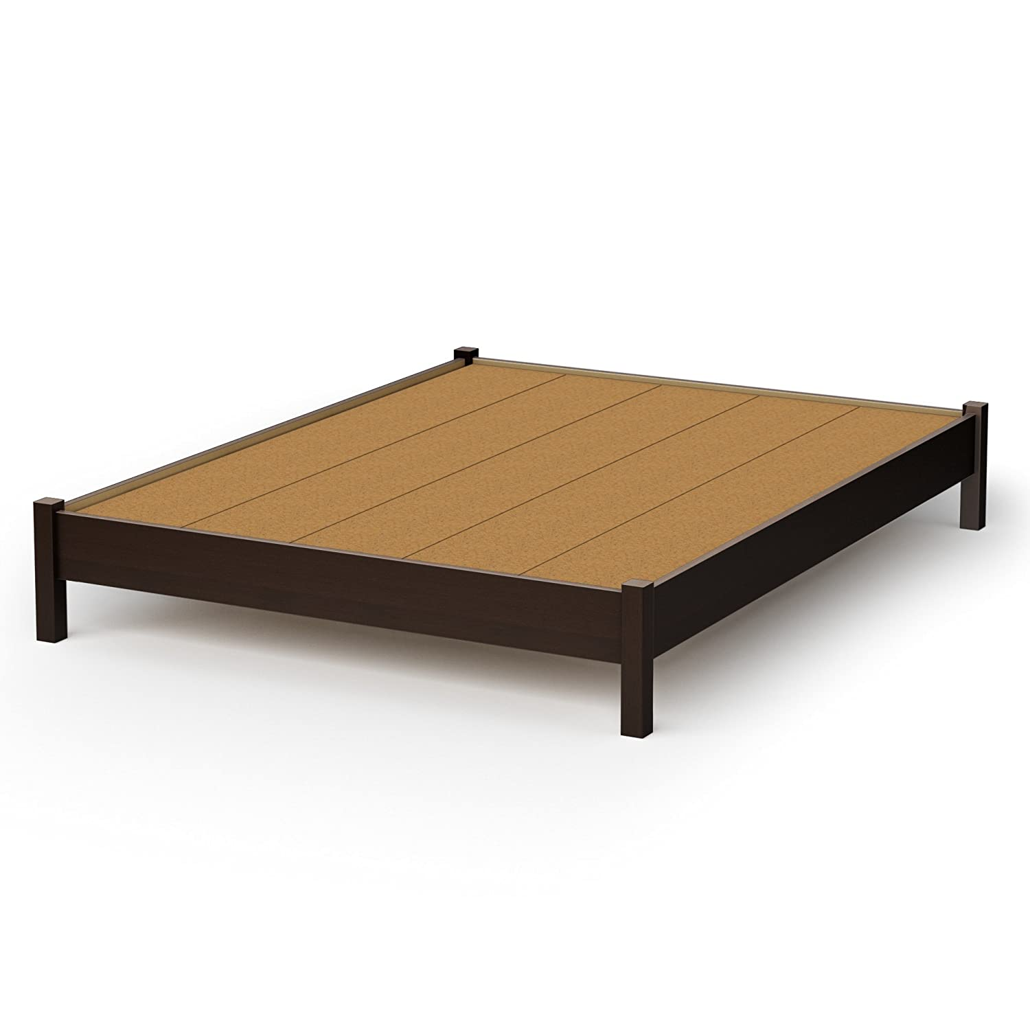 amazoncom south shore sandbox collection 60inch queen platform bed chocolate kitchen u0026 dining
