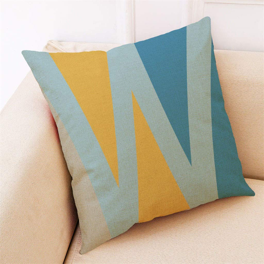 Weiliru Letter Pattern Home Pillowcases Throw Pillow Cover Love Letter Pattern Design Farmhouse Style 18×18 inches