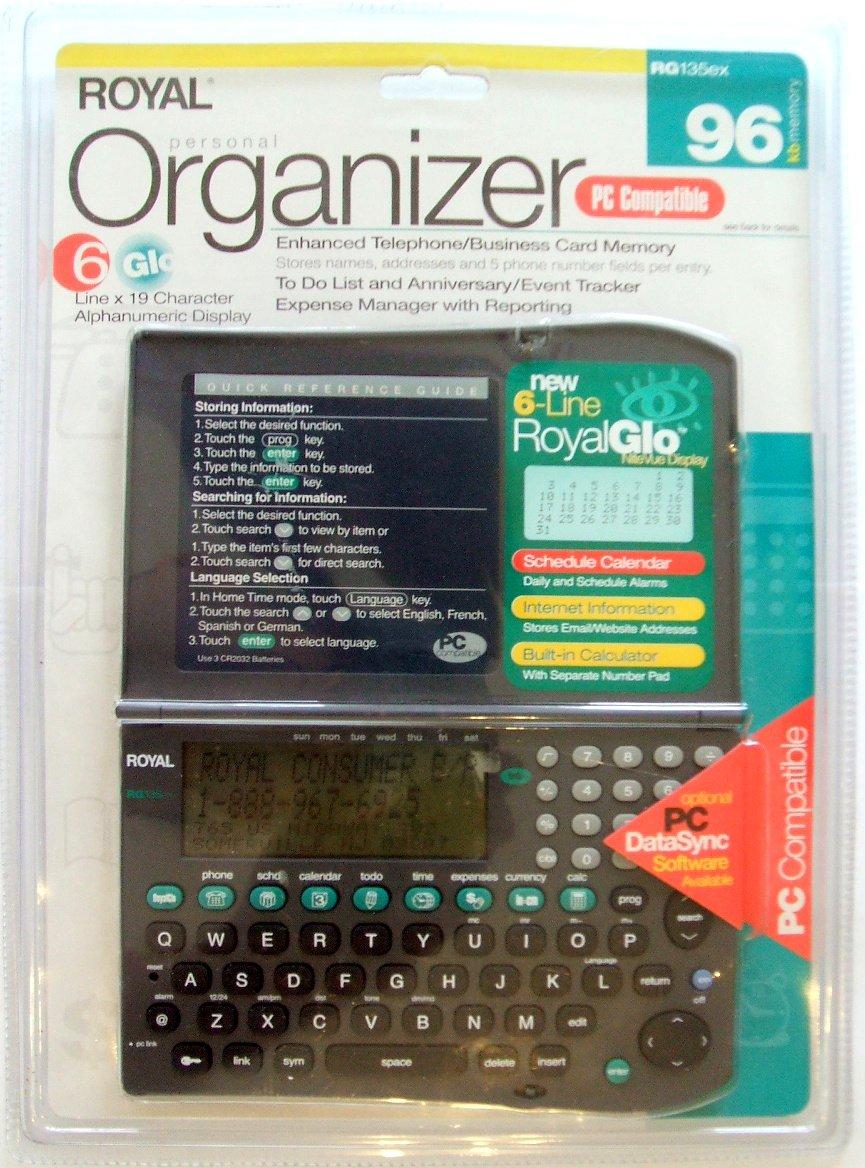 Royal RG135ex Handheld Organizer
