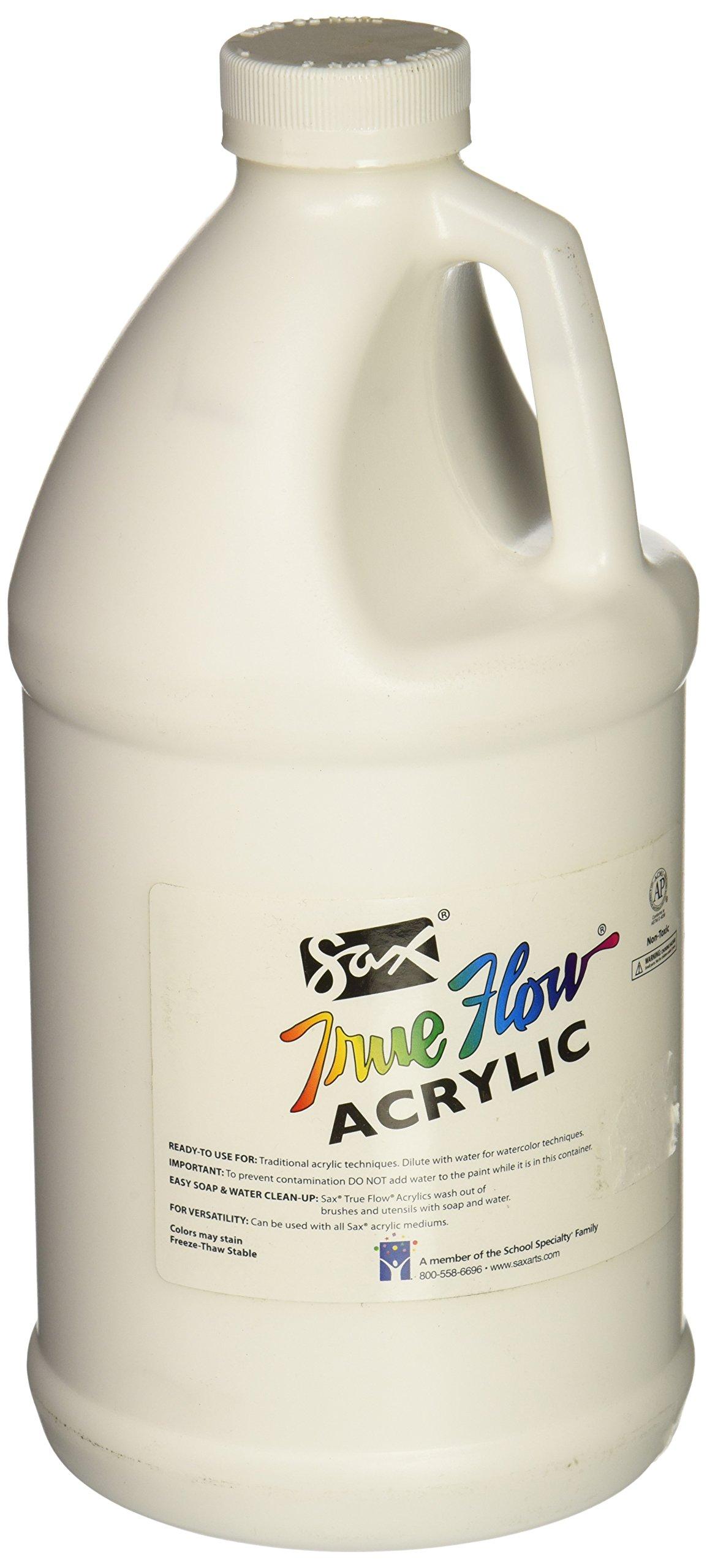 Sax True Flow Heavy Body Acrylic Paint, 1/2 Gallon, Titanium White - 439301 by Sax