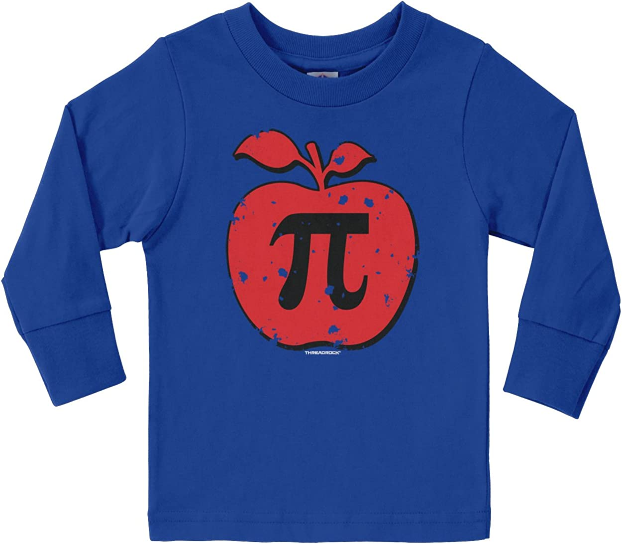 Threadrock Little Boys Apple Pi Toddler L//S T-Shirt