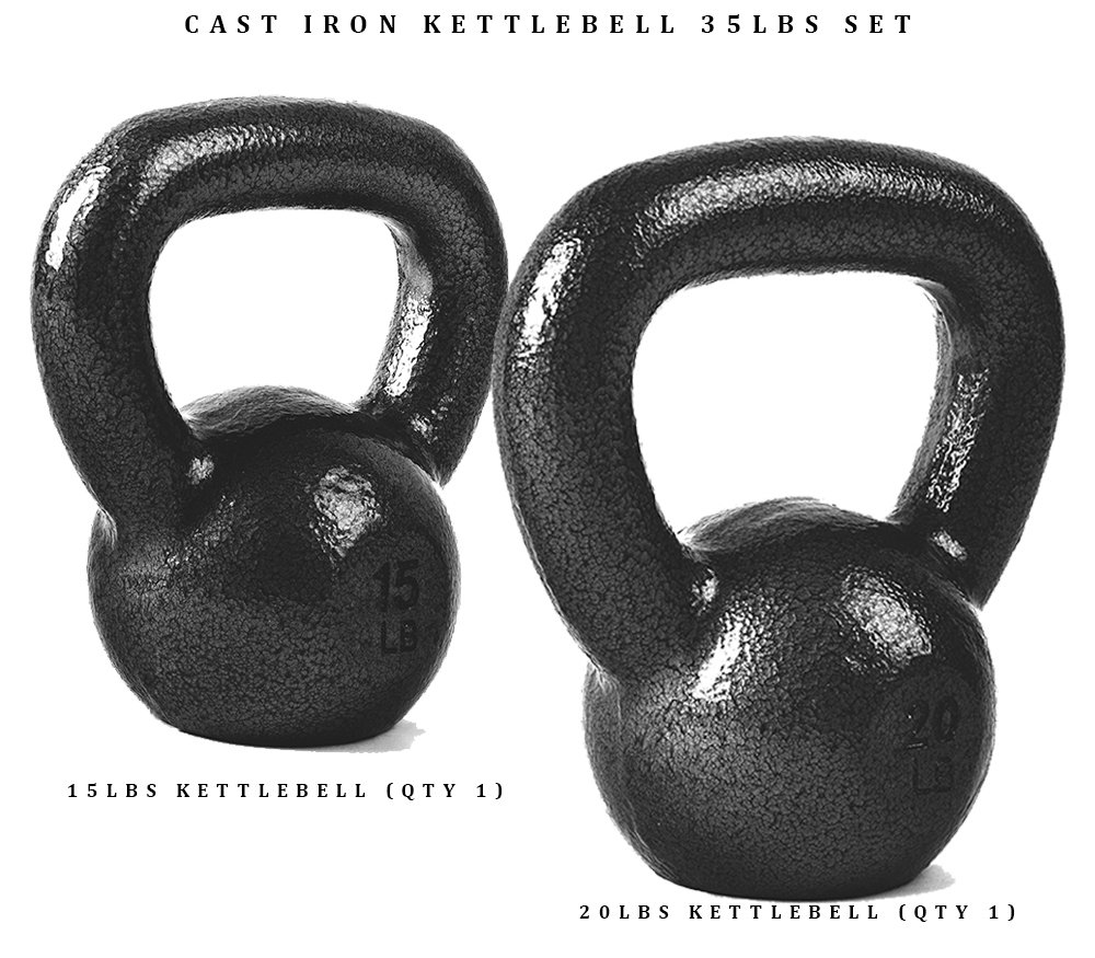 Amazon.com : CAP Barbell SDK2BS-25 Cap Cast Iron Kettlebell Bundle, 10 + 15 Lb  Kettlebells, 25 lb Set : Sports & Outdoors