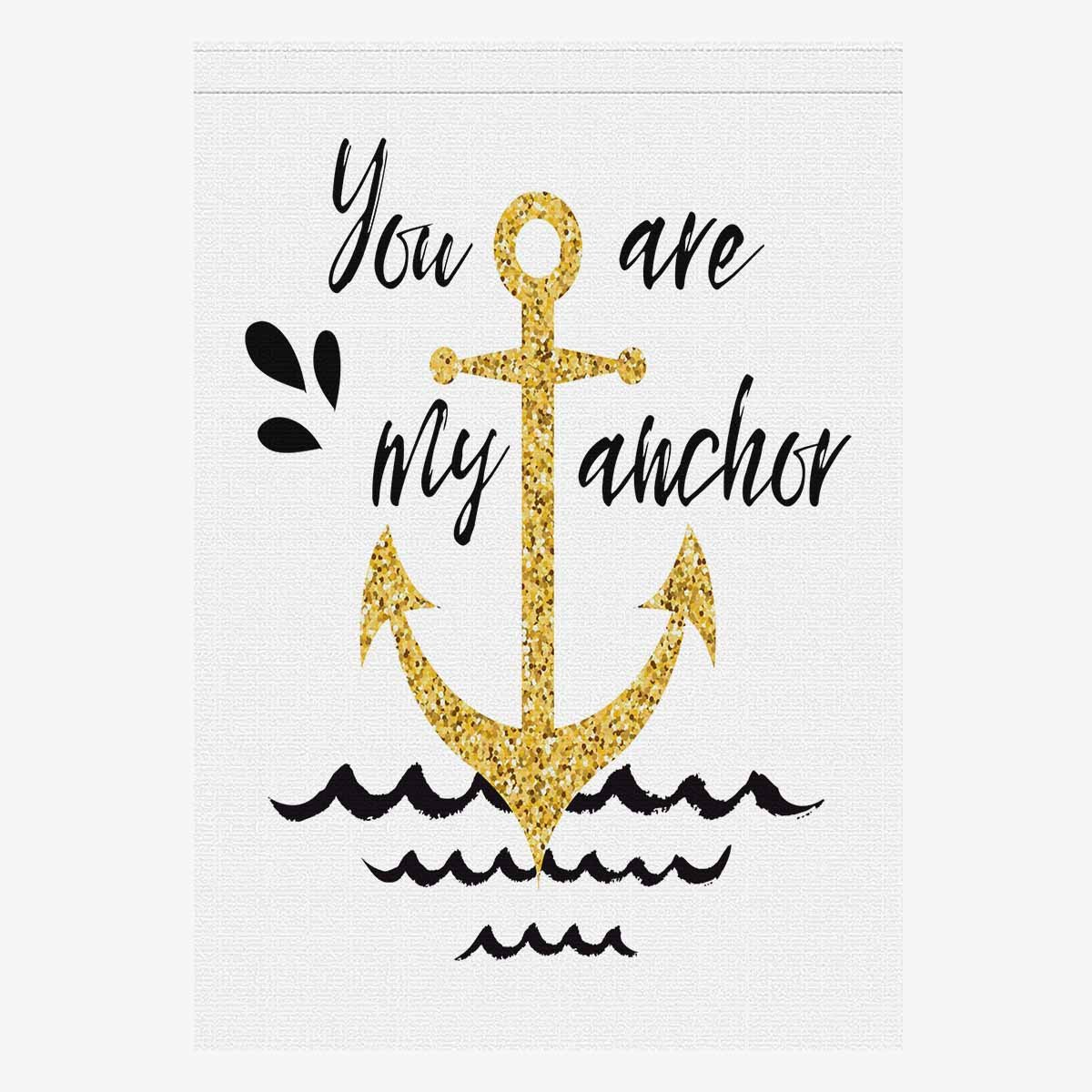 Amazoncom Interestprint Golden Nautical Anchor With Love Quotes