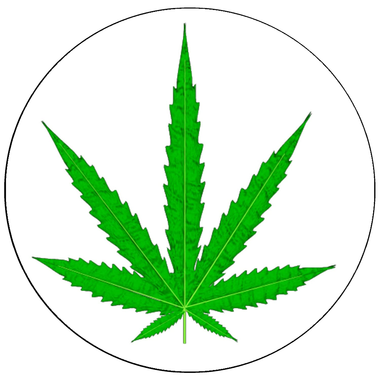 Amazon.com: Pack-10 Marijuana/Cannabis Leaf on Clear Vinyl ...