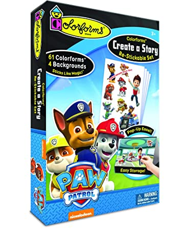Amazon Com Colorforms Create A Story Paw Patrol Toys Games