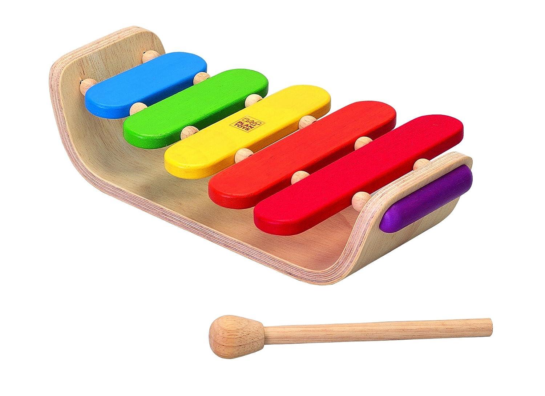 Plan Toys 13564052 - Ovales Xylophon 0640502 Kleinkind / Motorikspielzeug Musikspielwaren