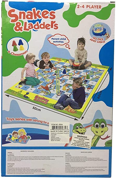 Child Activities Snakes /& Ladders Game Parent