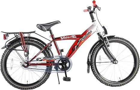 Bicicleta de niños Thombike 20 Pulgadas negro rojo plateado ...