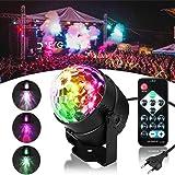 Luci Discoteca LED,SOLMORE Modello di Acqua Controllo remoto Disco Party Luce Lampada Magica Ruota la Lampada Sferica per KTV Discoteca Bar Club DJ Magic Ball