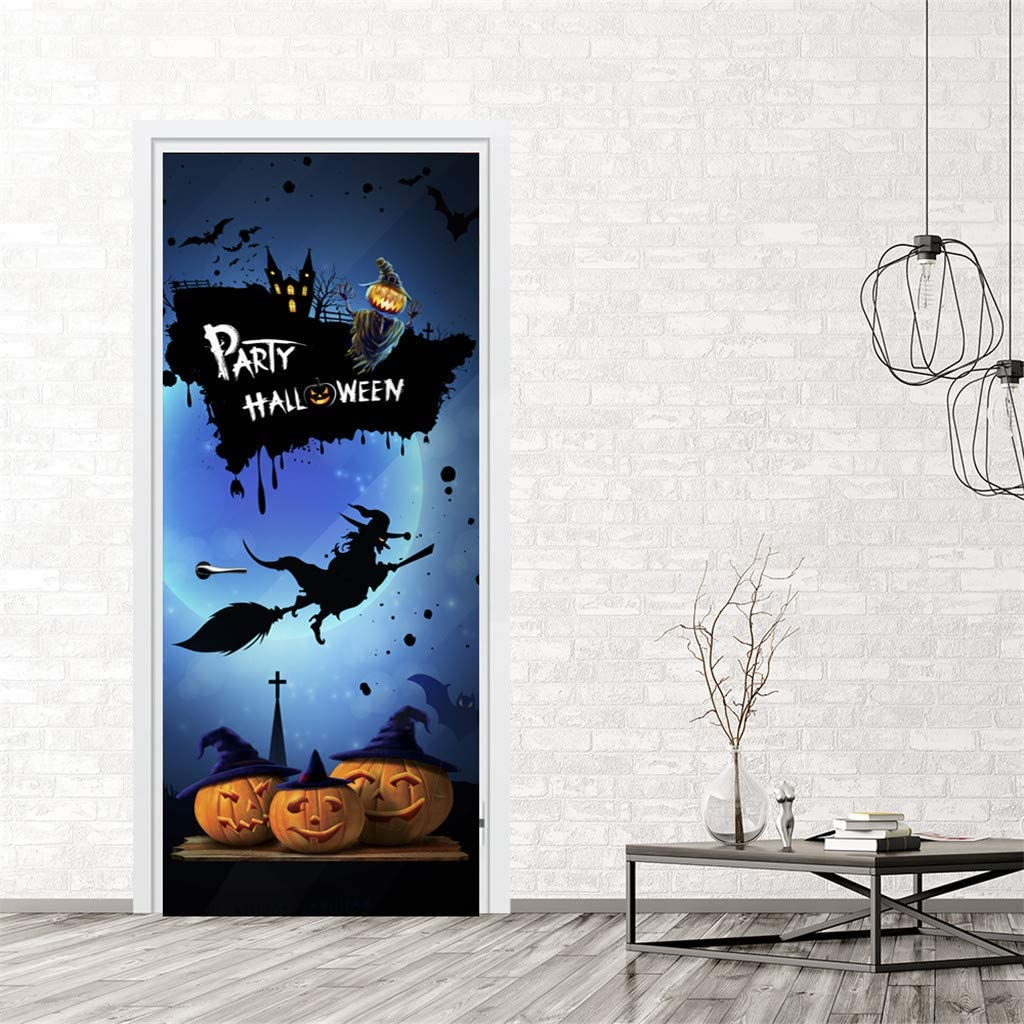 Amazon Halloween Door Stickers Creative Funny Glass