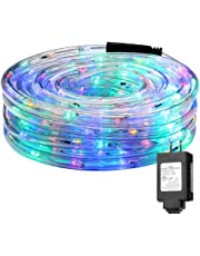 LE Rope Light String Lights, Waterproof, Indoor Outdoor LED Rope Lights for Garden Patio Wedding Party Thanksgiving