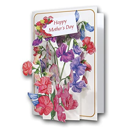 Super Mothers Day Sweet Peas A 3D Pop Up Greeting Card From The Birthday Cards Printable Opercafe Filternl