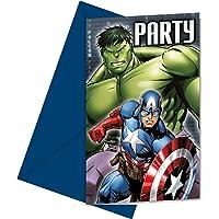 Procos-84653 Marvel Avengers Power, Invitaciones para Sobres, Multicolor (Ciao SRL 84653)