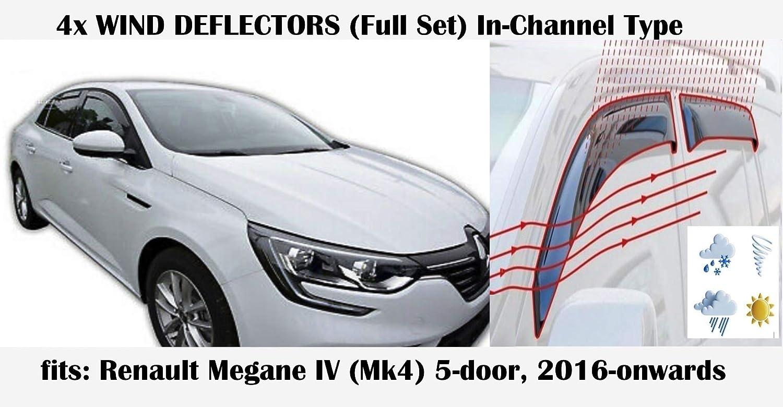 Windabweiser Für Renault Megane Mk4 5 Türer Schrägheck 2016 2017 2018 2019 2020 Acrylglas Seitenvisier Pmma Fensterabweiser Auto