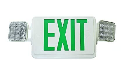 nicor lighting led emergency exit sign with dual adjustable led Emergency Exit Diagram