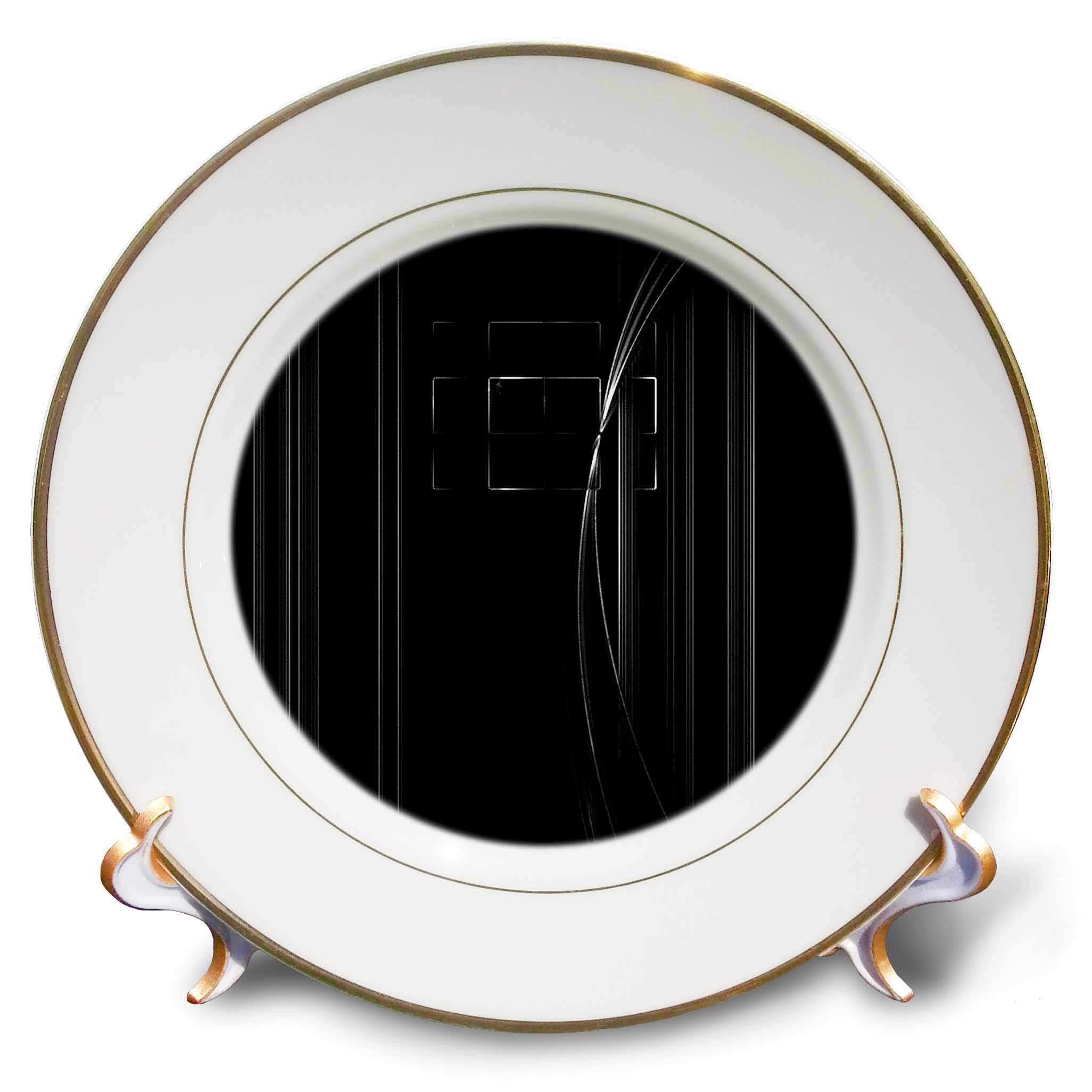 3dRose Digital Art by Brandi - Finding Light - Abstract of light coming through a window - 8 inch Porcelain Plate (cp_289205_1)