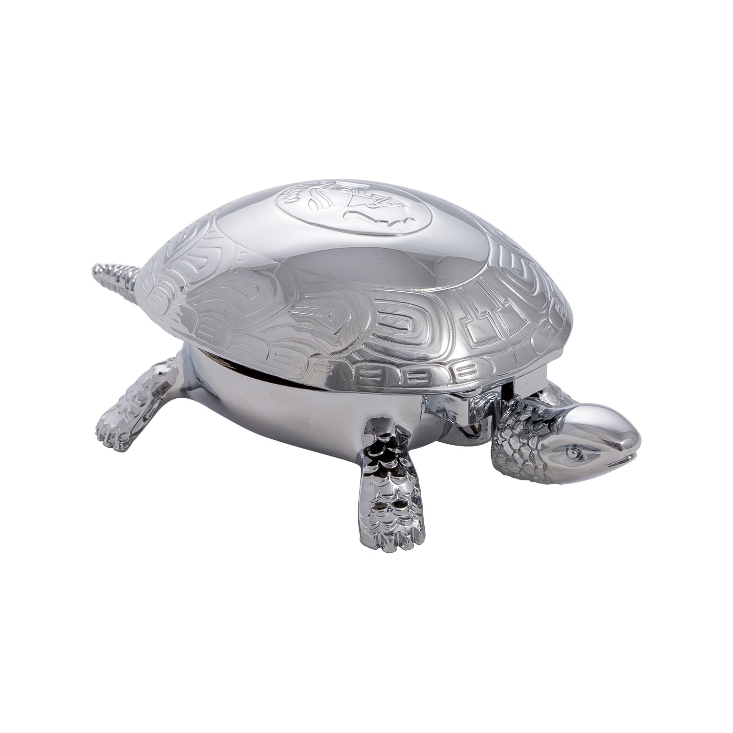 El Casco Turtle Bell Silver Plated With Chrome