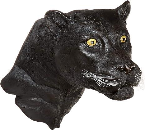 Amazon Com Design Toscano Shadow Predator Black Panther Wall Sculpture Multicolor Home Kitchen