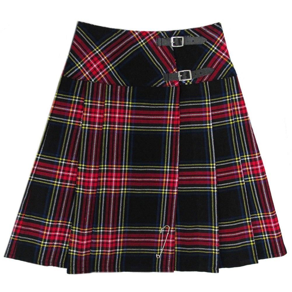 Tartanista Black Stewart 23'' Kilt Skirt US 12