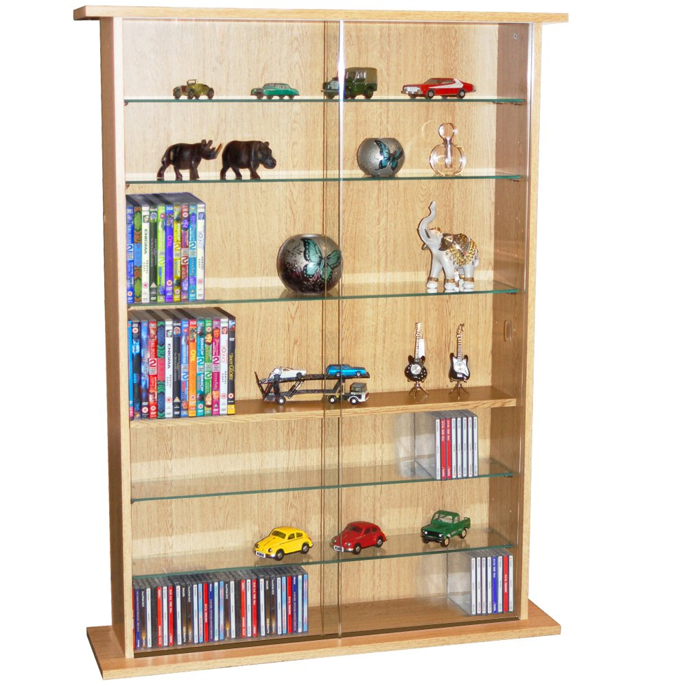 Excellent Watsons Boston Glass Collectable Display Cabinet 600 Cd 255 Dvd Storage Shelves Beech Home Remodeling Inspirations Basidirectenergyitoicom