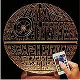 Star Wars Deko lámpara estrella de la Muerte (3d de discapacitados Illusion)