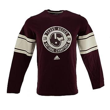 Texas A & M Aggies Adidas Maroon Retro camisa de camiseta de manga larga, Granate