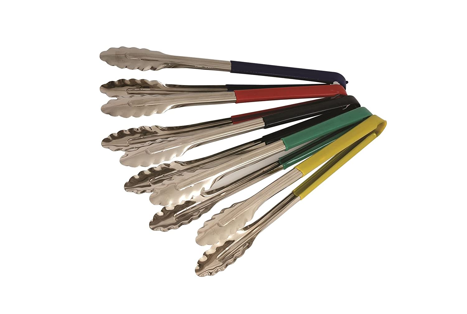 31 cm Genware NEV-CCT31G Colour Coded Tong Green Stainless Steel