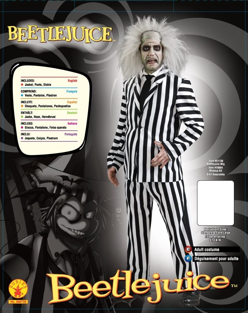 Rubies 888735STD, Disfraz de Beetlejuice, para hombre, Medium ...