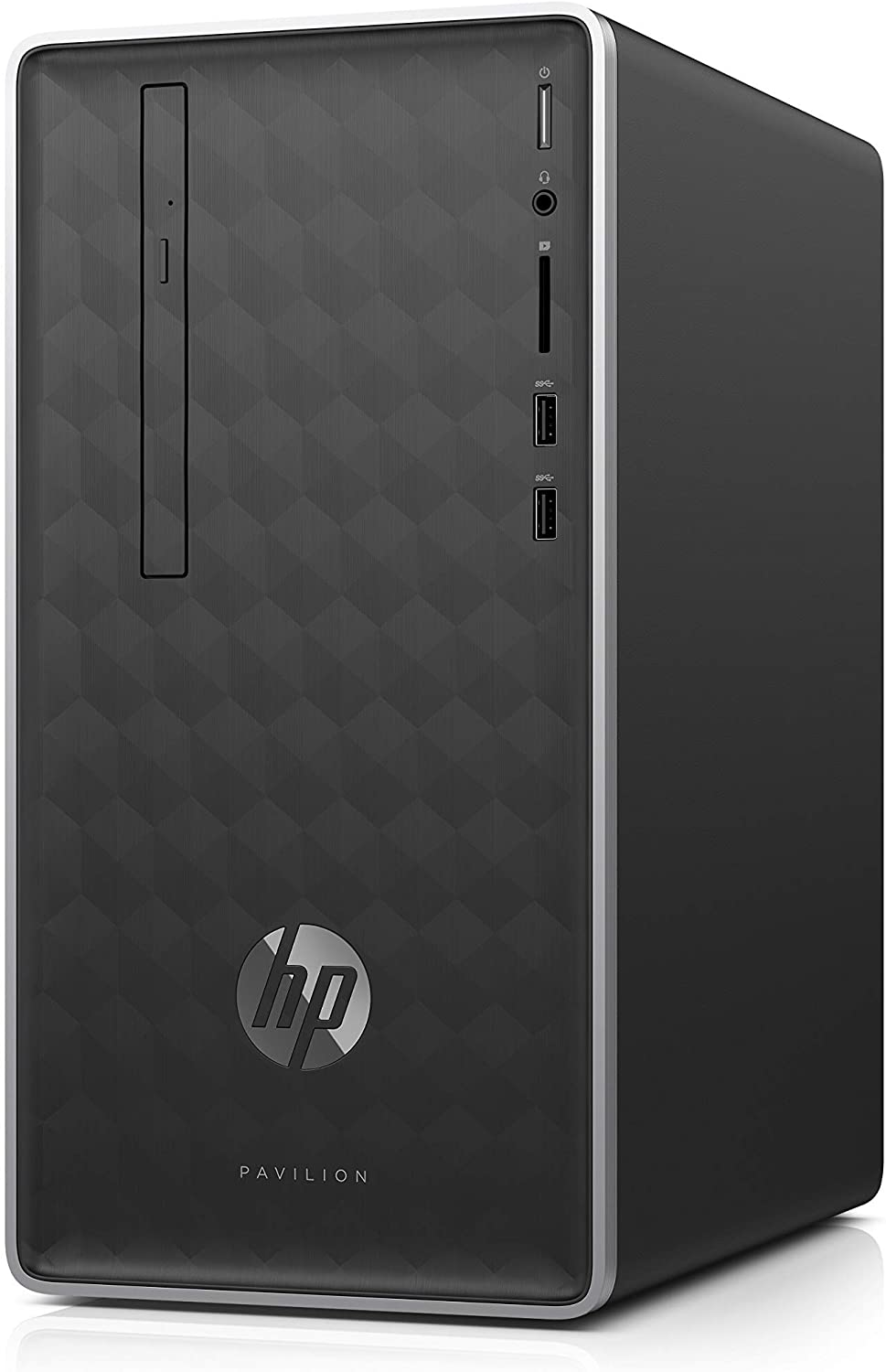 HP Pavilion Business Desktop PC 590-p0033w Intel Core i3-8100 (up to 3.60 GHz), 4GB DDR4-2400 SDRAM, 1TB 7200 RPM HDD, 16GB Optane Memory, DVD-ROM, USB Type-C, Keyboard and Mouse