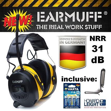 "Ear Defender original""EARMUFF"" Digital AM FM MP3/Smart phone Radio HEADPHONES Hearing"