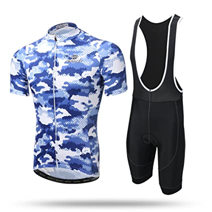 Xintow Men s Cycling Jersey Short Sleeve Sportswear Shirt 3D Silicon Padded  Bicycle Bib Shorts Clothing Outfit A296 61c162cc0